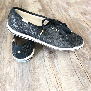 WOMEN'S KEDS X KATE SPADE CHAMPION GLITTER SHOE